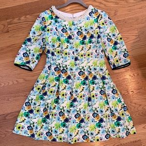 Dresses & Skirts - Floral Dress with Pearl Collar